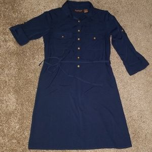 Navy shirt dress size s